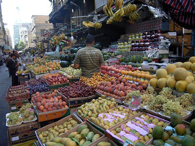 Aegypten Kairo Obst- und Gemüsemarkt
