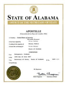 Apostille von Alabama