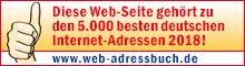 """Auszeichnungsbanner """"Das Web-Adressbuch für Deutschland 2018"""""""