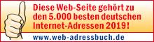 """Auszeichnungsbanner """"Das Web-Adressbuch für Deutschland 2019"""""""