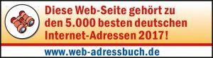 Web-Adressbuch Auszeichnung 2017