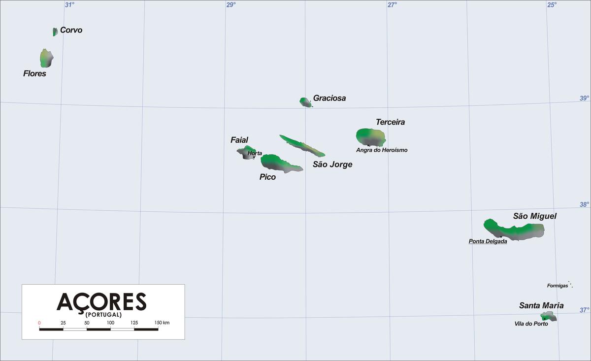 Azoren-Karte