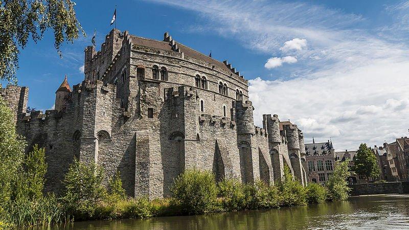 Belgien Gent Burg Gravensteen