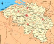 Belgien Karten
