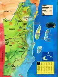 Belize Karten