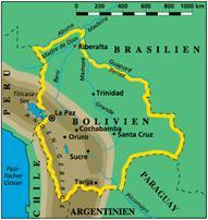 Bolivien Karten