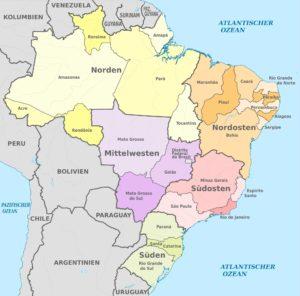 Brasilien - Regionen und Bundesstaaten