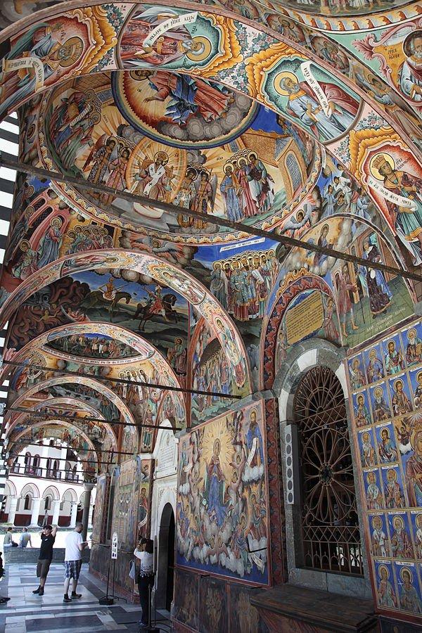 Bulgarien - Malereier im Rila Kloster