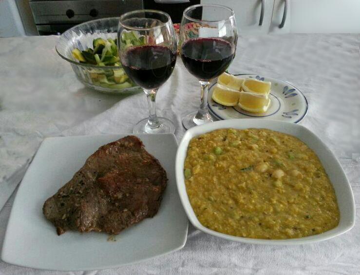 Chile Bohnen mit Mazamorra