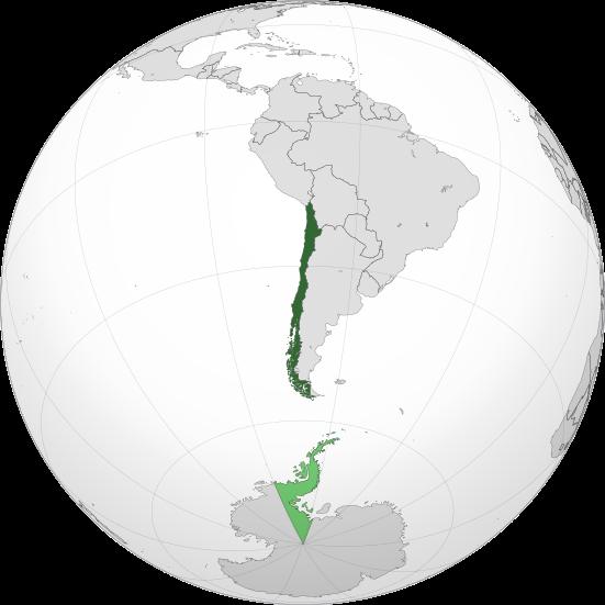 Chile Lage mit Antarktis