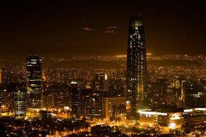 Chile Santiago bei Nacht