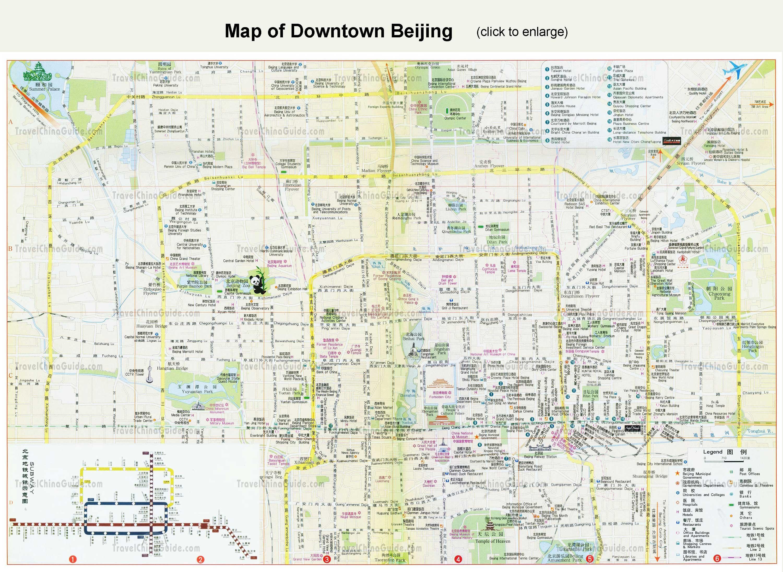 Peking Strassenkarte