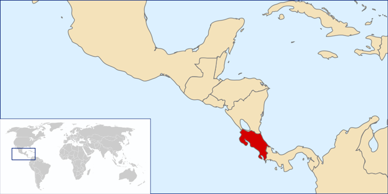 Costa Rica Lage