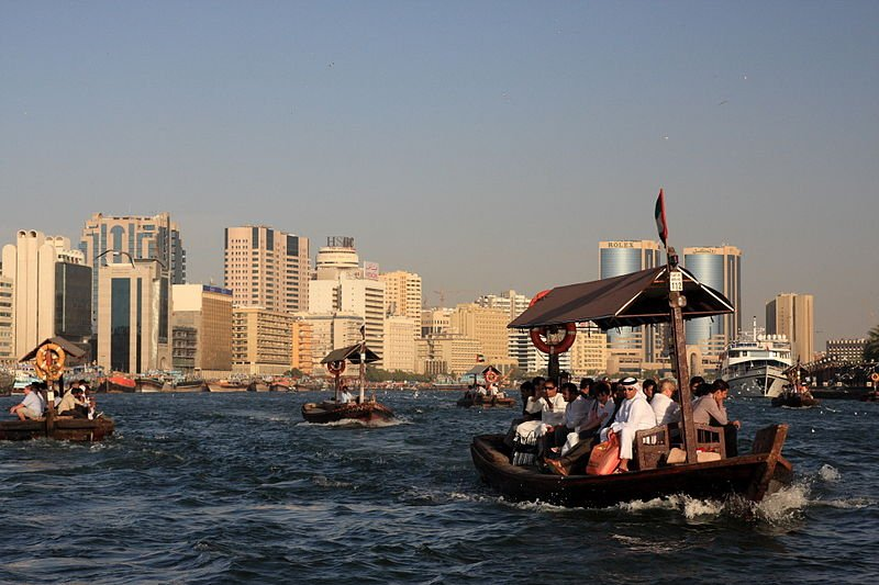 Abras auf dem Dubai Creek
