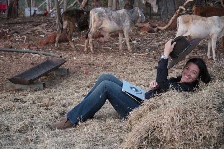 """Unternehmerin Stephie Hauk in ihrem """"Homeoffice"""" in Australien."""