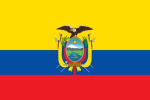 Flagge von Ecuador