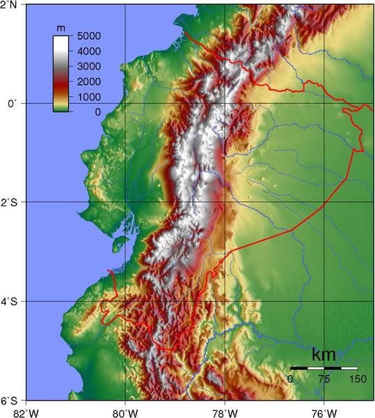 Ecuador Topographie
