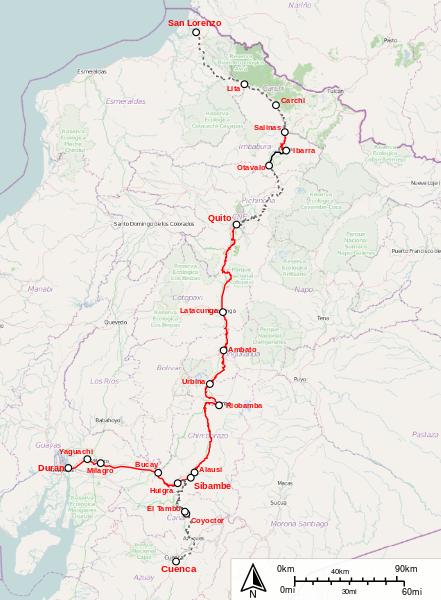 Ecuador Zugverbindungen