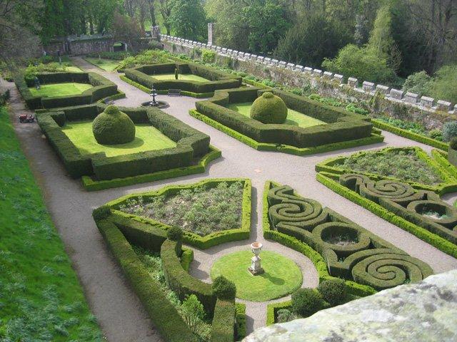 England Chillingham Schloßgarten