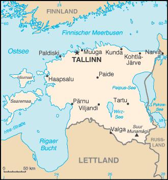 Estland Nachbarstaaten