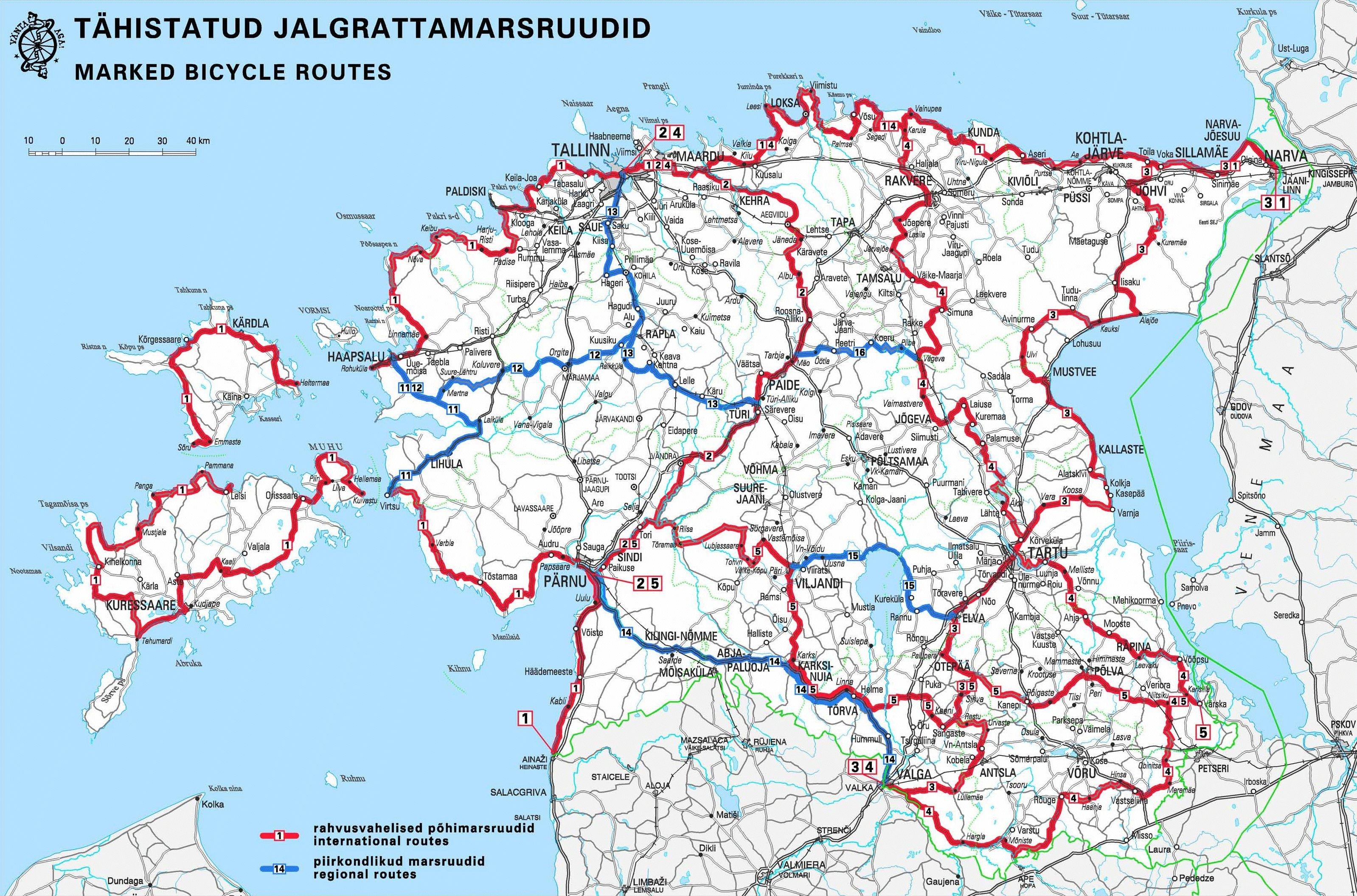 Estland Strassenkarte
