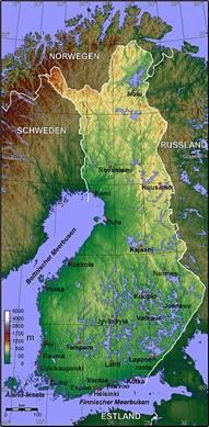 Finnland Karten