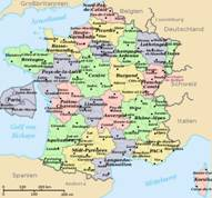 Frankreich Karten