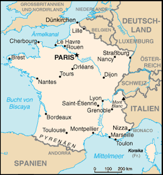 Frankreich Nachbarstaaten