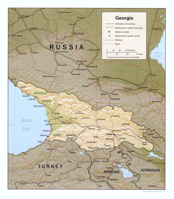 Georgien Reliefkarte