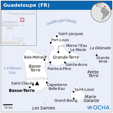 Guadeloupe Staedte