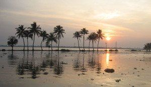 Indien Kerala Backwaters Sonnenuntergang