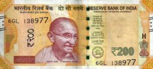 Indien-Rupies-200-Vorderseite