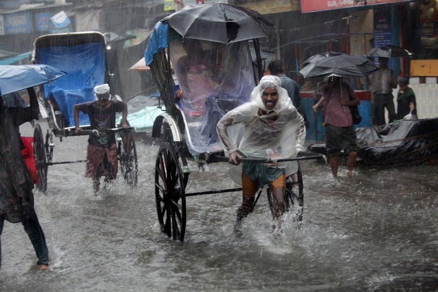 Indien Transport mit der Rikscha