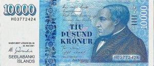 Island - 10000 Kronen - Vorderseite