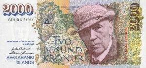 Island - 2000 Kronen - Vorderseite