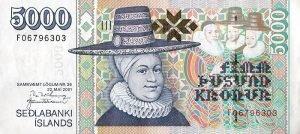Island - 5000 Kronen - Vorderseite