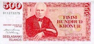 Island - 500 Kronen - Vorderseite