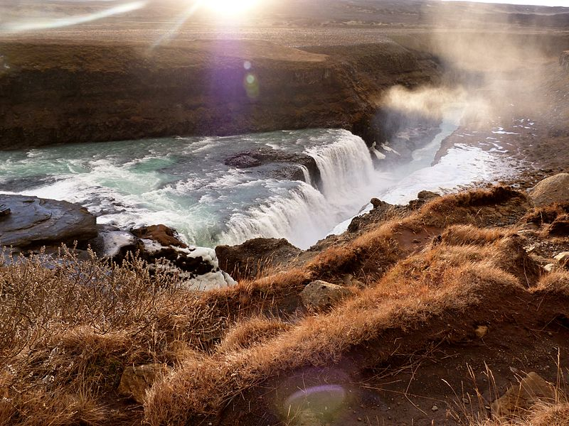 Island Gullfoss Wasserfall