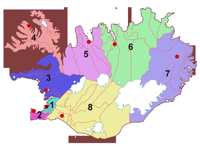 Island - Regionen