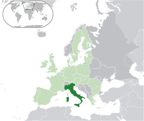 Italien Lage