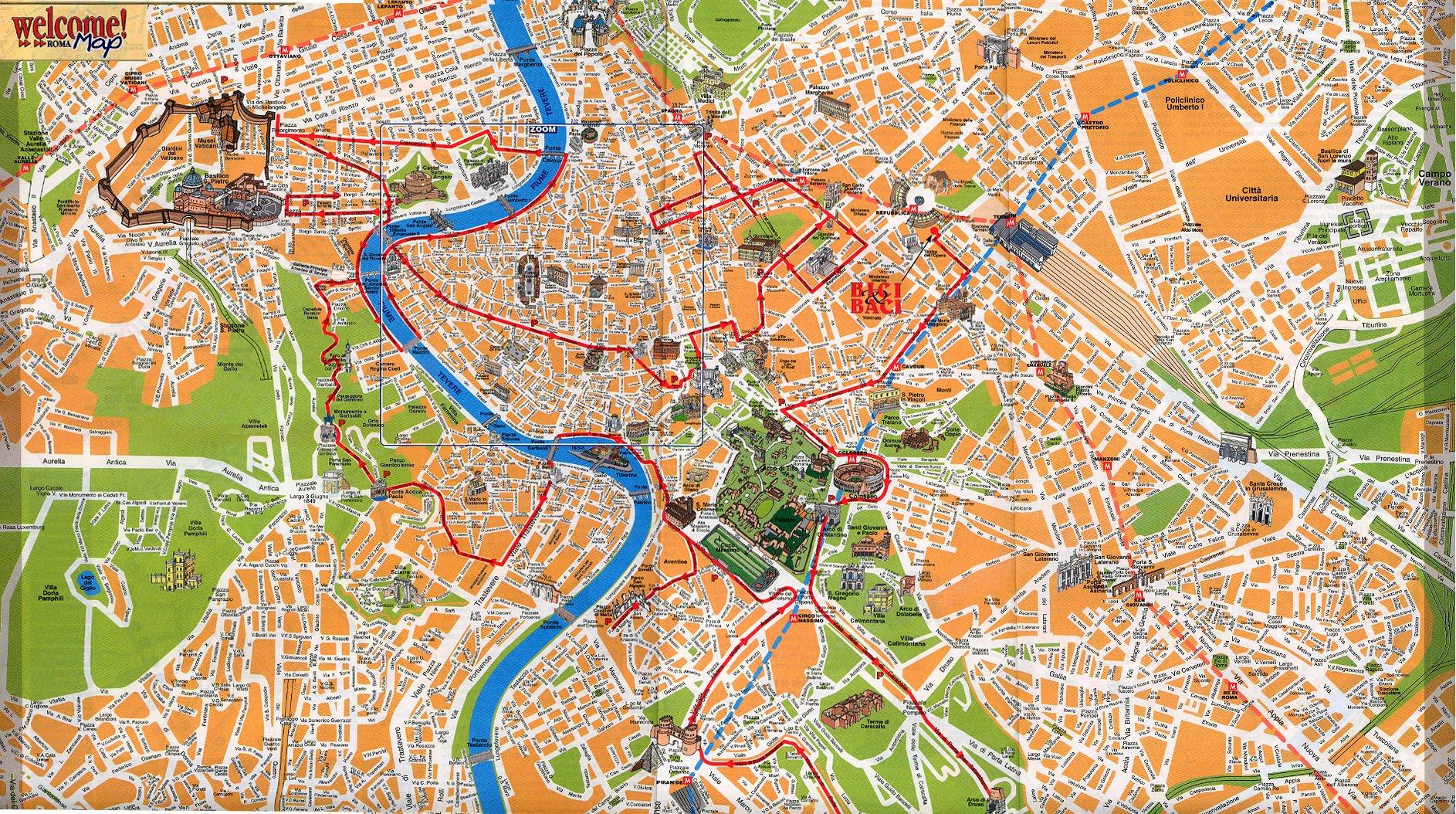 Rom Stadtplan
