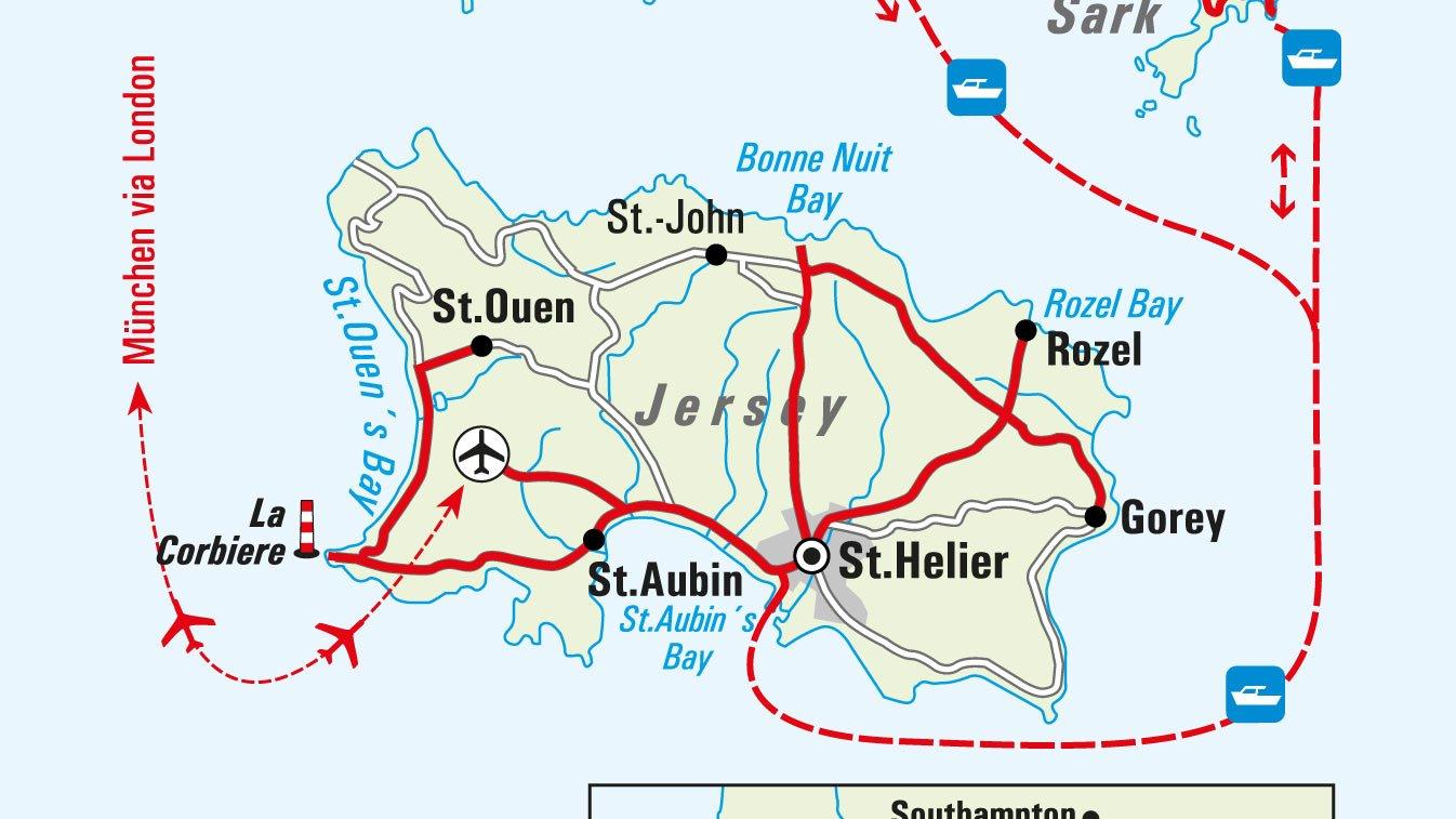 Jersey Landkarte