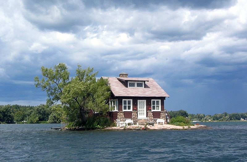 Kanada Thousand Islands Just Room Enough Island