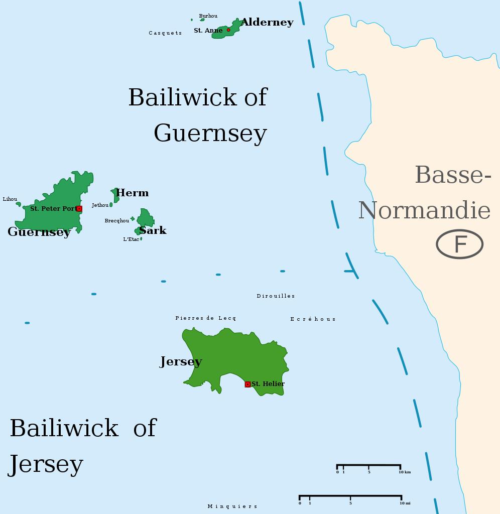 Kanalinseln Karte