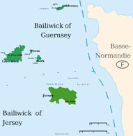 Kanalinseln Karten