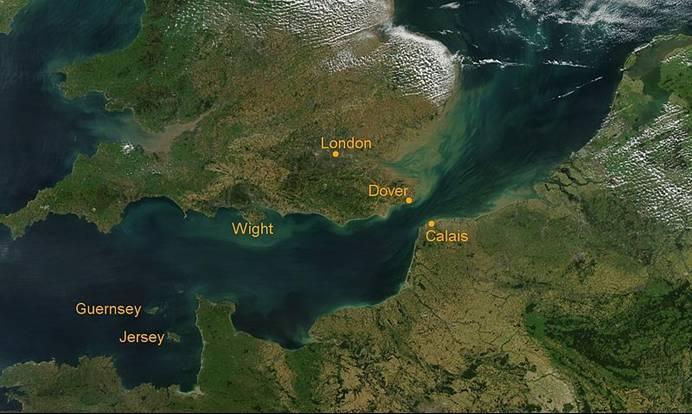 Kanalinseln Lage