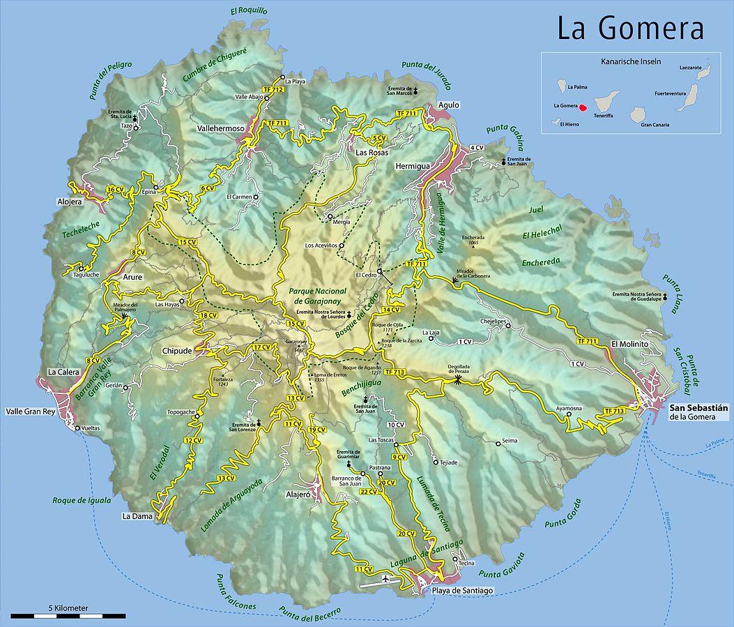 Kanaren Inseln Karte.Karten Von Den Kanarischen Inseln