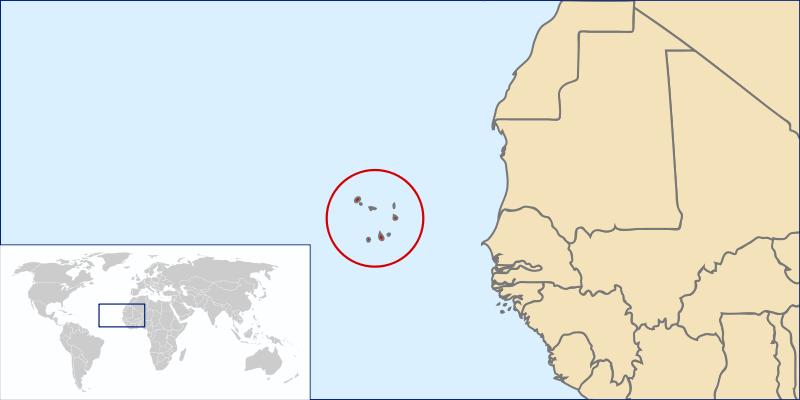 Kapverdrische Inseln Lage