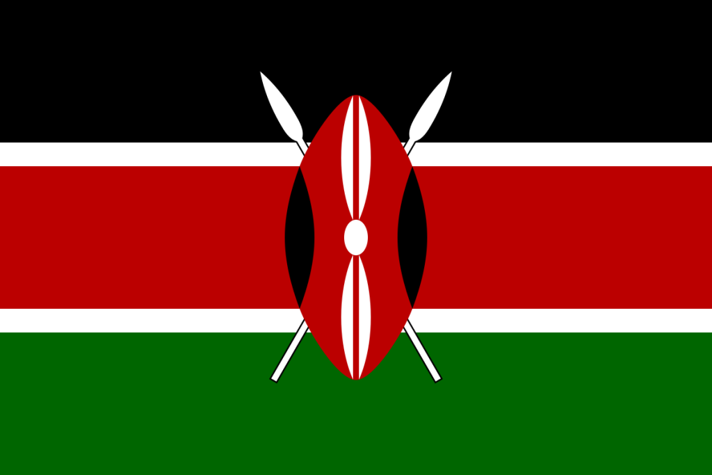 Kenia-Flagge
