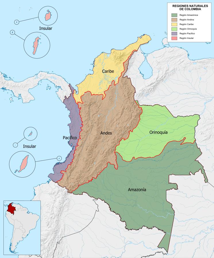 Regionen von Kolumbien